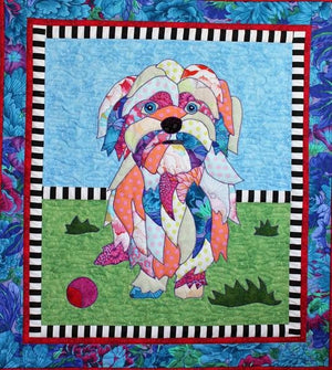 BJ Designs & Patterns Lulu the Dog Applique Quilt Pattern