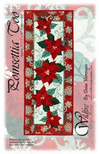 Wildfire Designs Alaska Red Poinsettia Too Table Runner Applique Quilt Kit with Pattern and Fabric Kit - Beaverhead Treasures LLC
