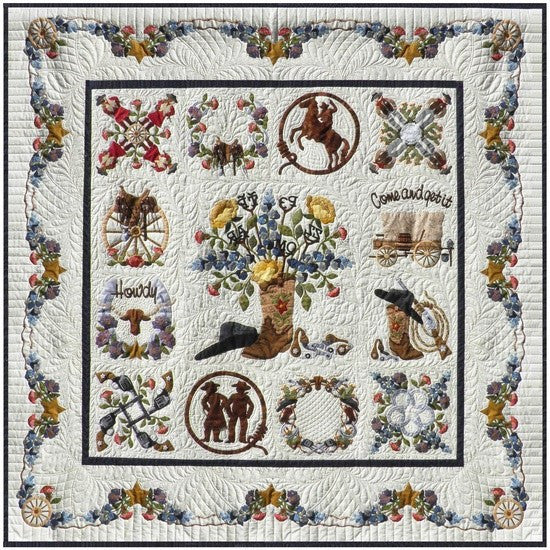 P3 Designs Baltimore Happy Trails BOM Applique Quilt Pattern Set - Beaverhead Treasures LLC
