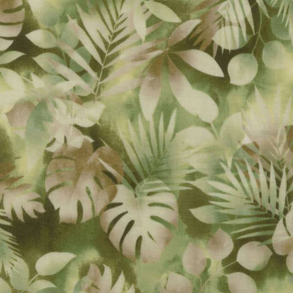 RJR Fabrics Green Leaves - Beaverhead Treasures LLC