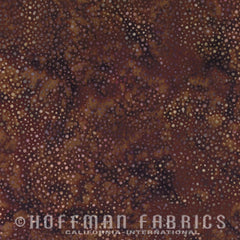 Hoffman Fabrics Dot Batiks Chocolate Brown 885-108-Chocolate Bali Batik Fabric
