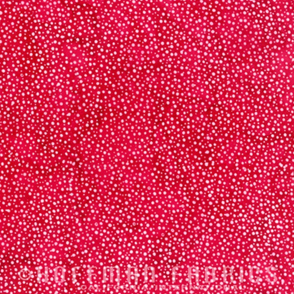 Hoffman Fabrics Dot Batiks Strawberry Red 885-175-Strawberry Bali Batik Fabric