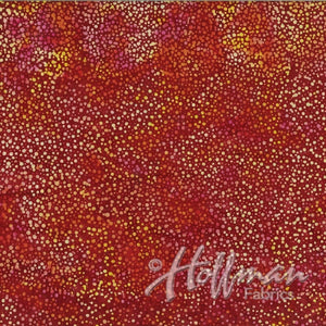 Hoffman Fabrics Dot Batiks Garnet Red 885-231-Garnet Cotton Fabric