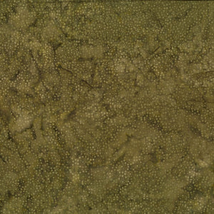 Hoffman Fabrics Dot Batiks Khaki Green 885-49-Khaki Cotton Fabric