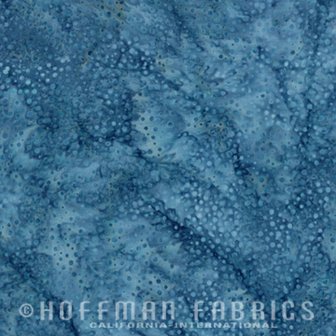 Hoffman Fabrics Dot Batiks Denim Blue 885-65-Denim Bali Batik Fabric