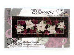 Wildfire Designs Alaska White Poinsettia Too Table Runner Applique Quilt Pattern - Beaverhead Treasures LLC