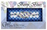 Wildfire Designs Alaska Berry Blues Table Runner Applique Quilt Pattern - Beaverhead Treasures LLC