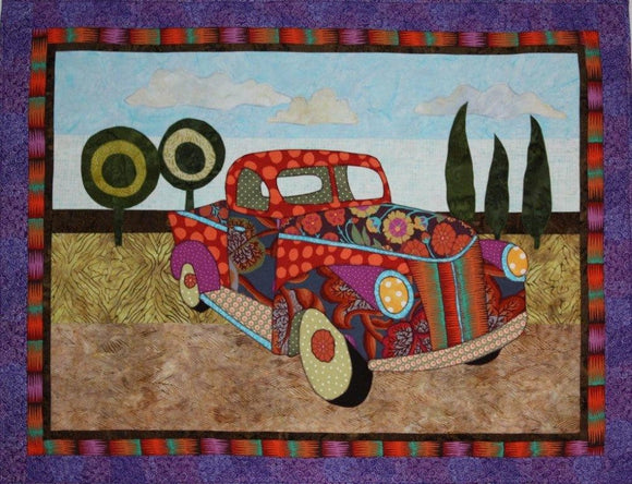 BJ Designs & Patterns Papa's Pickup Applique Quilt Pattern