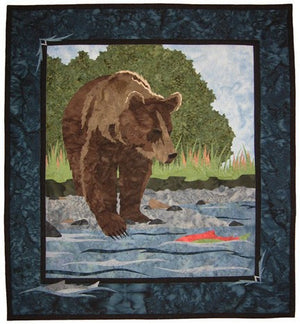Wildfire Designs Alaska Day on the River Applique Quilt Kit with Pattern and Fabric Kit - Beaverhead Treasures LLC