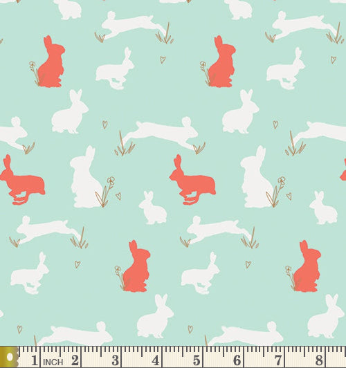 Art Gallery Fabrics Anna Elise Bunny Binkies Funk Cotton Fabric ANE-87505