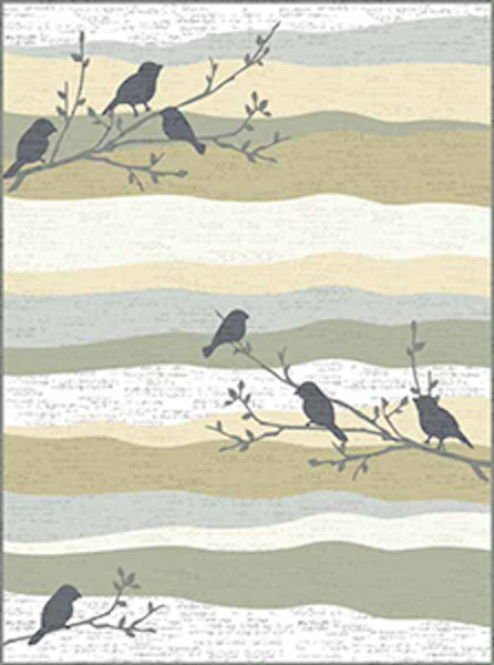 Andover Fabrics Aria Light Khaki Musical Cotton Fabric A-9219-N