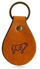 Angus Bull Leather Keychain