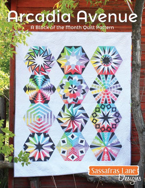 Sassafras Lane Designs Arcadia Avenue Quilt Pattern Book Front Cover