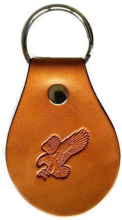 Attack Eagle Leather Keychain