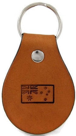 Australian Flag Leather Keychain