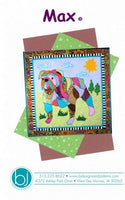 BJ Designs & Patterns Max the Bulldog Dog Applique Quilt Pattern Front Cover