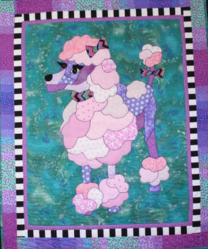BJ Designs & Patterns Fifi Poodle Dog Applique Quilt Pattern