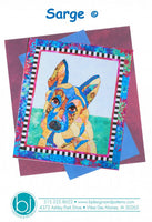 BJ Designs & Patterns Sarge German Shepherd Dog Applique Quilt Pattern Front Cover