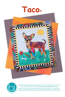 BJ Designs & Patterns Taco Chihuahua Dog Applique Quilt Pattern Front Cover