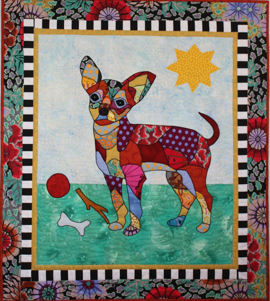 BJ Designs & Patterns Taco Chihuahua Dog Applique Quilt Pattern