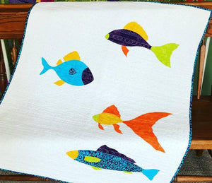 Barbara Persing Babyhood Fish Applique Quilt Pattern