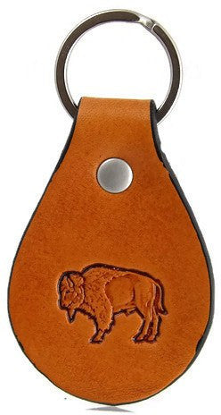 Buffalo Leather Keychain