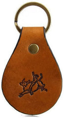 Bull Rider Leather Keychain