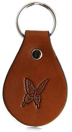 Butterfly Leather Keychain