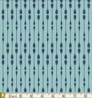 Art Gallery Fabrics Catch & Release Paddle Rows Cotton Fabric CTR-24908 Scale