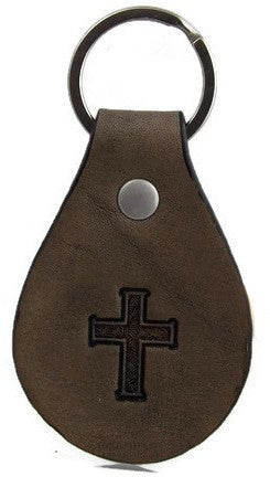 Cross Leather Keychain