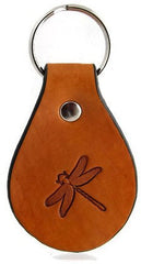 Dragonfly Leather Keychain