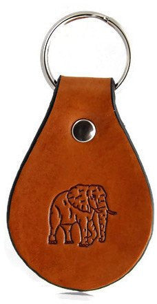 Elephant Leather Keychain