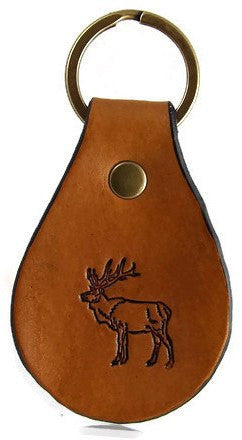 Elk Leather Keychain