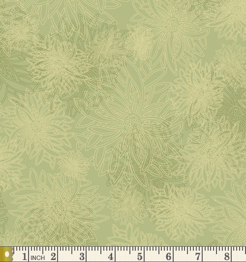 Art Gallery Fabrics Floral Elements Pear Green Blender Cotton Fabric FE-500-Pear-Green