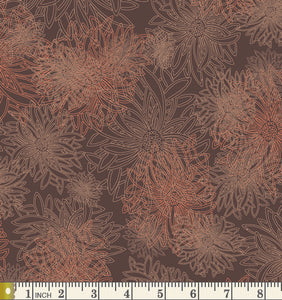 Art Gallery Fabrics Floral Elements Spicy Brown Blender Cotton Fabric FE-501-Spicy-Brown