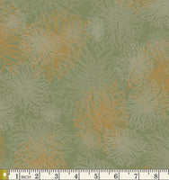 Art Gallery Fabrics Floral Elements Dusty Olive Blender Cotton Fabric FE-509-Dusty-Olive
