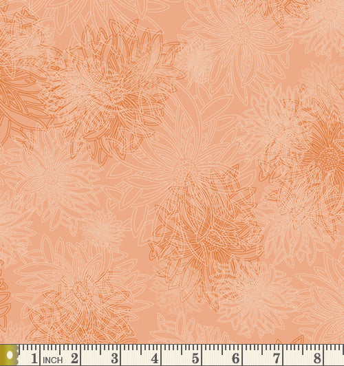 Art Gallery Fabrics Floral Elements Sunset Blender Cotton Fabric FE-517-Sunset