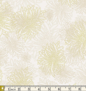 Art Gallery Fabrics Floral Elements Winter Wheat Blender Cotton Fabric FE-533-Winter-Wheat