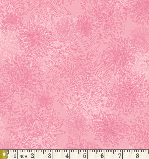 Art Gallery Fabrics Floral Elements Sugar Pink Blender Cotton Fabric FE-544-Sugar-Pink