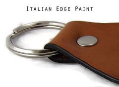 Leather Key Chain Italian Edge Paint