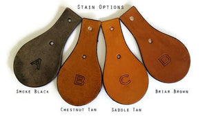 Leather Luggage Tag Stain Options