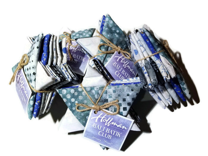 Hoffman Fabrics January Frost Batik Fat Quarter Bundle 12 Pieces FQAUTO-586-January