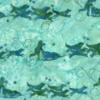 Hoffman Fabrics Tahiti Blue Green Dog Musher Bali Batik Fabric G2208-254-Tahiti