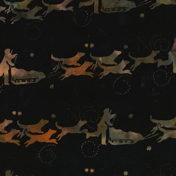 Hoffman Fabrics Sugarplum Dog Musher Bali Batik Fabric G2208-286-Sugarplum