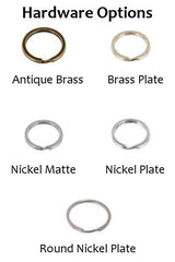 Leather Key Chain Hardware Options
