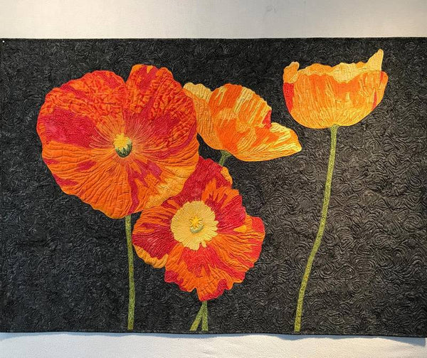 Barbara Persing Iceland Poppies Applique Quilt Pattern