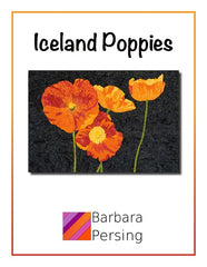 Barbara Persing Iceland Poppies Applique Quilt Pattern Front Cover