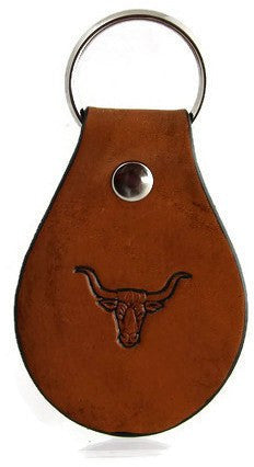 Longhorn Cow Leather Keychain
