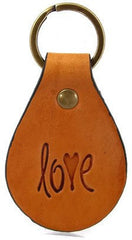 Love Leather Keychain
