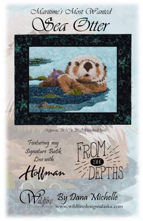 Wildfire Designs Alaska Maritime's Most Wanted Sea Otter Applique Quilt Pattern Front Cover